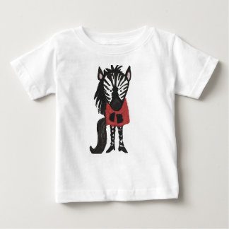 Zebra Jungle Friends Baby Animal Water Color T Shirt