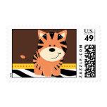 Zebra Jungle Friends Tiger Stamp