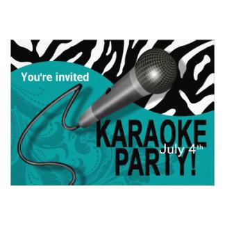 Zebra Karaoke Girls' Night Out Party Personalized Invitations