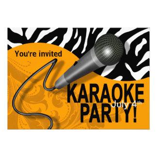 Zebra Karaoke Girls' Night Out Party Custom Announcements