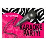 Zebra Karaoke Girls' Night Out Party Invite