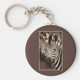 Zebra keychains & keyrings