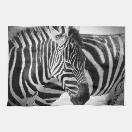 Zebra kitchen towel zazzle for Zebra kitchen set