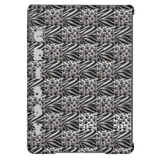 Zebra/kitty Paws Metal Textured iPad Air Case