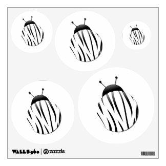 Zebra Ladybug Wall Decals