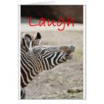 zebra laugh greeting card