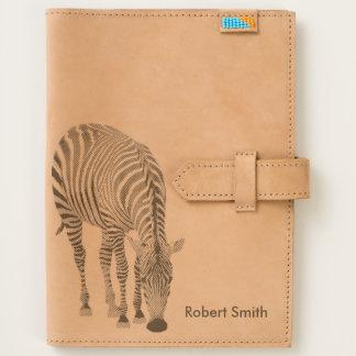 Zebra Leather Travel Journal iPad Mini Case