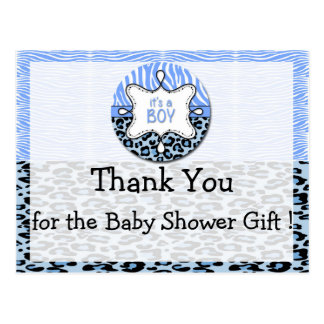 Zebra,Leopard Boy Baby Shower Thank You Postcards