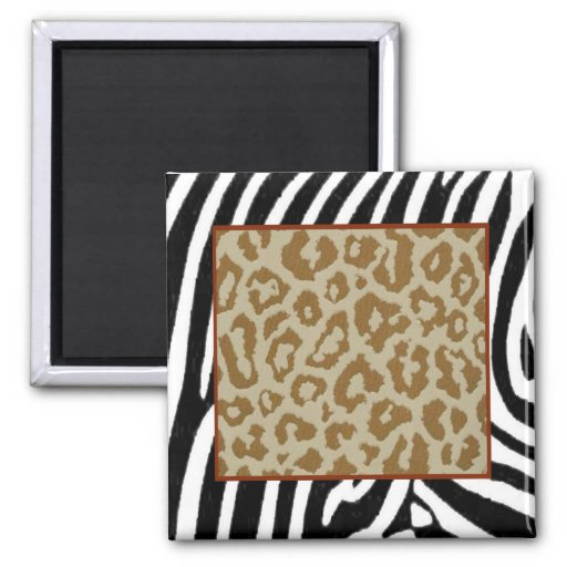 Zebra & Leopard fashionable print Magnet