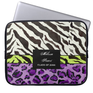 Zebra Leopard Print, Personalized Computer Sleeve