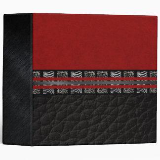 Zebra Leopard Red Silk Binder