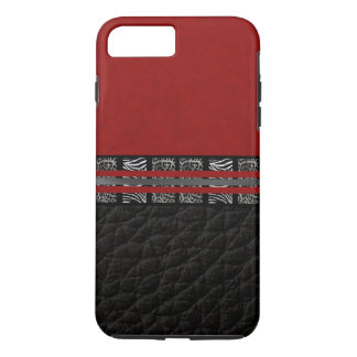 Zebra Leopard Red Silk iPhone 7 Plus Case