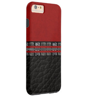 Zebra Leopard Red Silk Tough iPhone 6 Plus Case