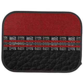 Zebra Leopard Red Silk Car Mat