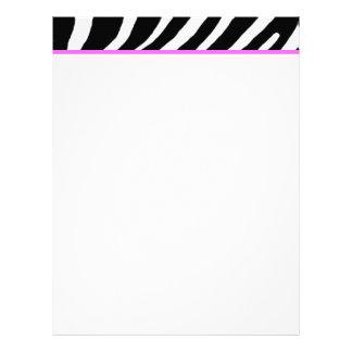 Zebra Letterhead
