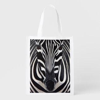 Zebra Lion Reusable Grocery Bag