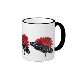 Zebra Longtail on a Daisy Ringer Coffee Mug