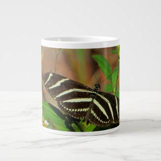 Zebra Longwing Butterfly Mug 20 Oz Large Ceramic Coffee Mug