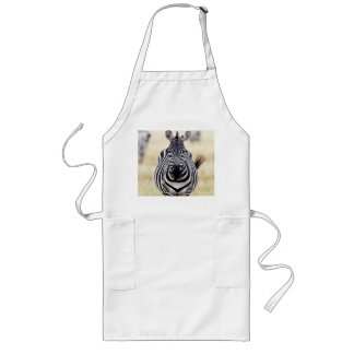 Zebra looking at you long apron