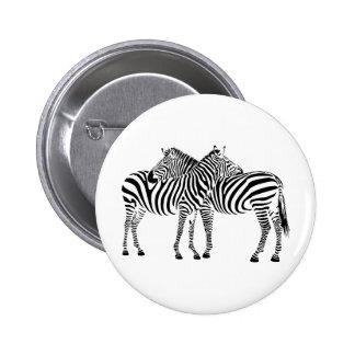 Zebra Love 2 Inch Round Button