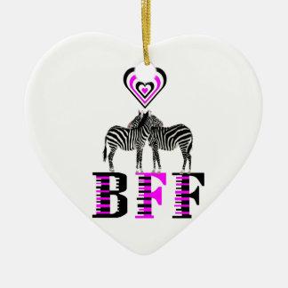 Zebra Love - BFF Ceramic Ornament