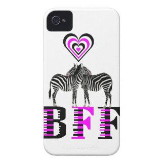 Zebra Love - BFF iPhone 4 Case-Mate Case