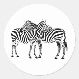 Zebra Love Classic Round Sticker