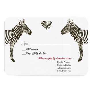 Zebra Love RSVP Card