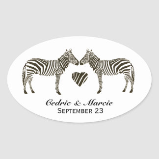 Zebra Love Save the Date Stickers