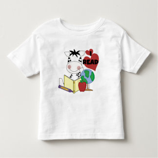 Zebra Love to Read Tshirts and Gifts