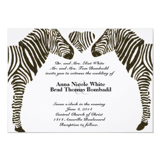 Zebra Love Wedding Invitation