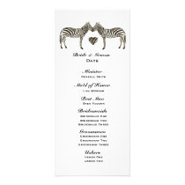 Zebra Love Wedding Program