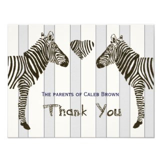 Zebra Love Whimsical personalized thank you notes Card