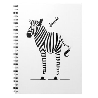 Zebra Lovers Gifts Notebooks