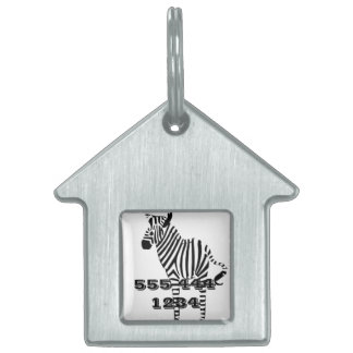 Zebra Lovers Gifts Pet ID Tag