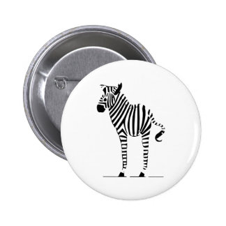 Zebra Lovers Gifts Pinback Button