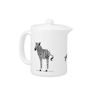 Zebra Lovers Gifts Teapot