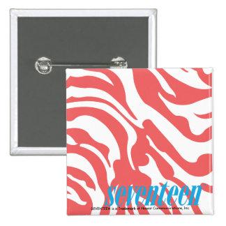 Zebra LtPink Pinback Button