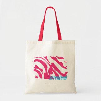 Zebra Magenta 3 Tote Bag
