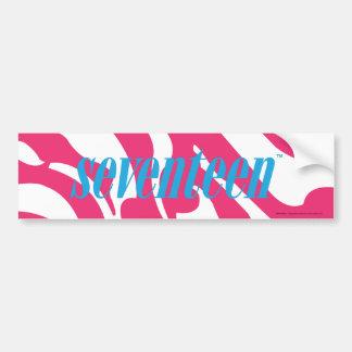 Zebra Magenta Car Bumper Sticker