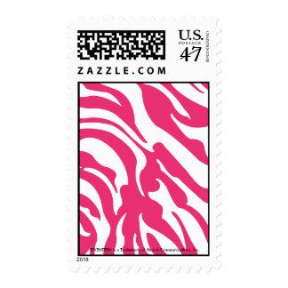 Zebra Magenta Postage Stamp