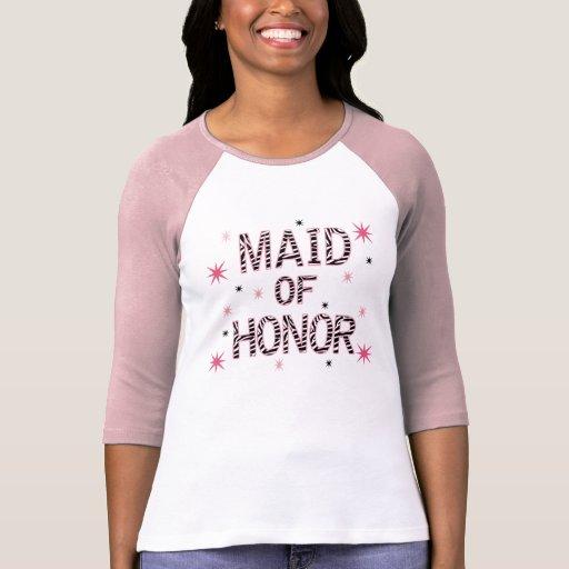 Zebra Maid of Honor T Shirt
