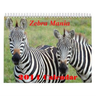 Zebra Mania 2014 Calendar