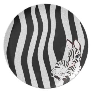 Zebra Melamine Plate