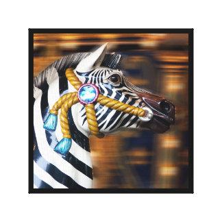 Zebra merry-go-round Canvas series 20