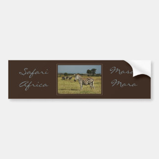 Zebra migration wildlife safari bumper stickers