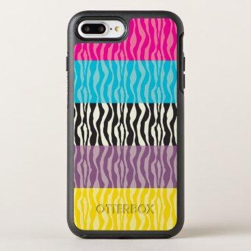 Zebra Modern Colorful Pattern OtterBox Symmetry iPhone 8 Plus/7 Plus Case