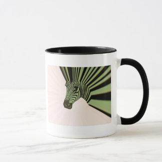 zebra mohawk mug