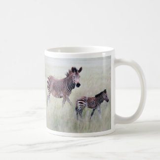 Zebra mom and baby coffee mug