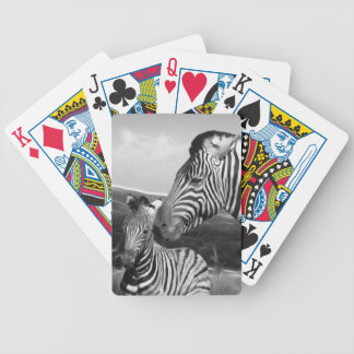 Zebra mom and baby in South Africa Bicycle Playing Cards